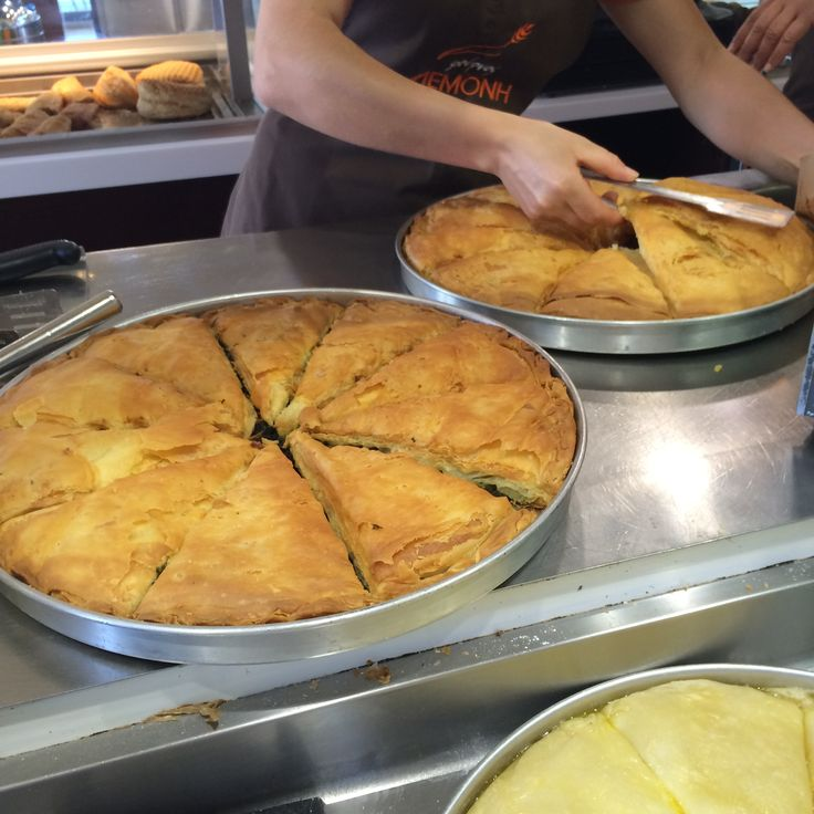 That's a tough choice. A slice of spinach or feta cheese traditional pie? Either way you are having deliciousness for lunch.