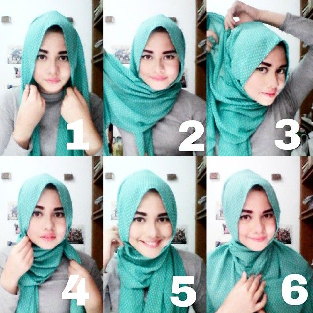 This must be the easiest hijab tutorial ever, it's simply wrapped around neck but looking beautiful especially for girls with round face.To be honest I tried this look but it didn't come this beautiful because I have a long face,…