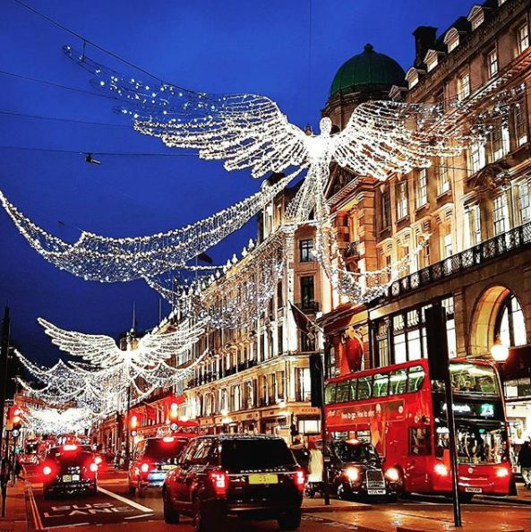 We love Darren Strick's shot of the beautiful Christmas lights in Regent Street.