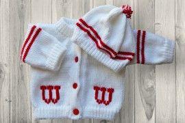Wisconsin University Baby Sweater
