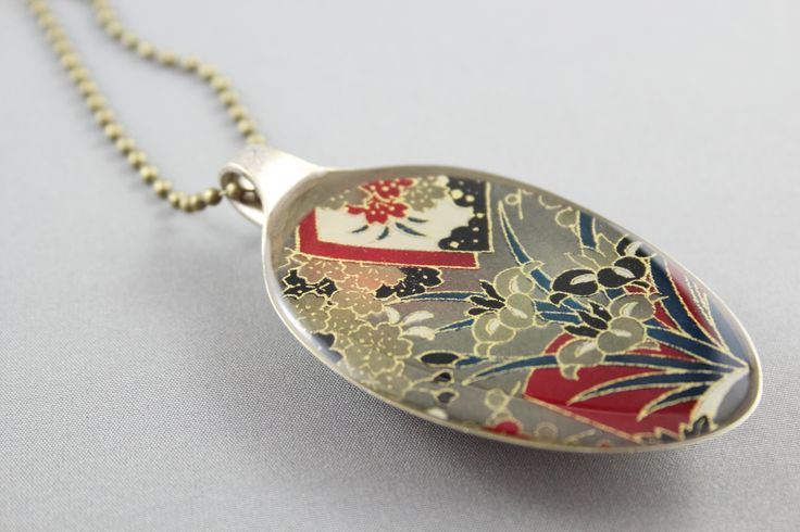 Recycled spoon pendant, by Resinate Designs https://www.facebook.com/ResinateDesigns