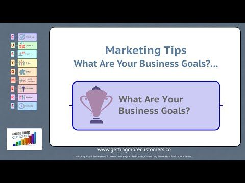 Small Business Marketing Tips - What Are Your Business Goals