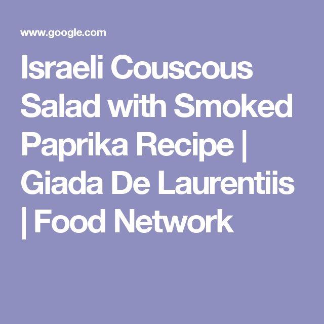 Israeli Couscous Salad with Smoked Paprika Recipe | Giada De Laurentiis | Food Network