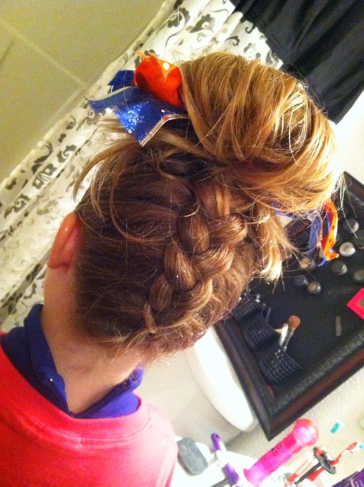 For WSE? Braid up the back with Angel's signature bun on top. <3