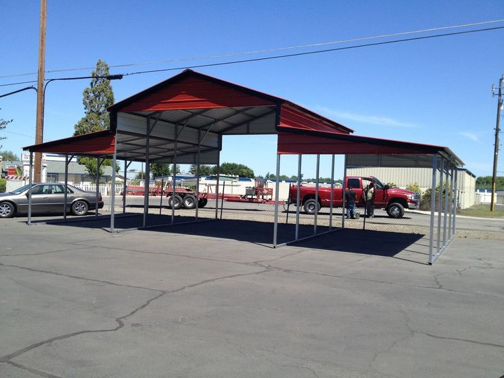 THREE CAR GARAGE 24 X 50 X 12 WITH THREE 10 X 10 ROLL UP DOORS and one walk in door – Store – Ideal Steel Carports