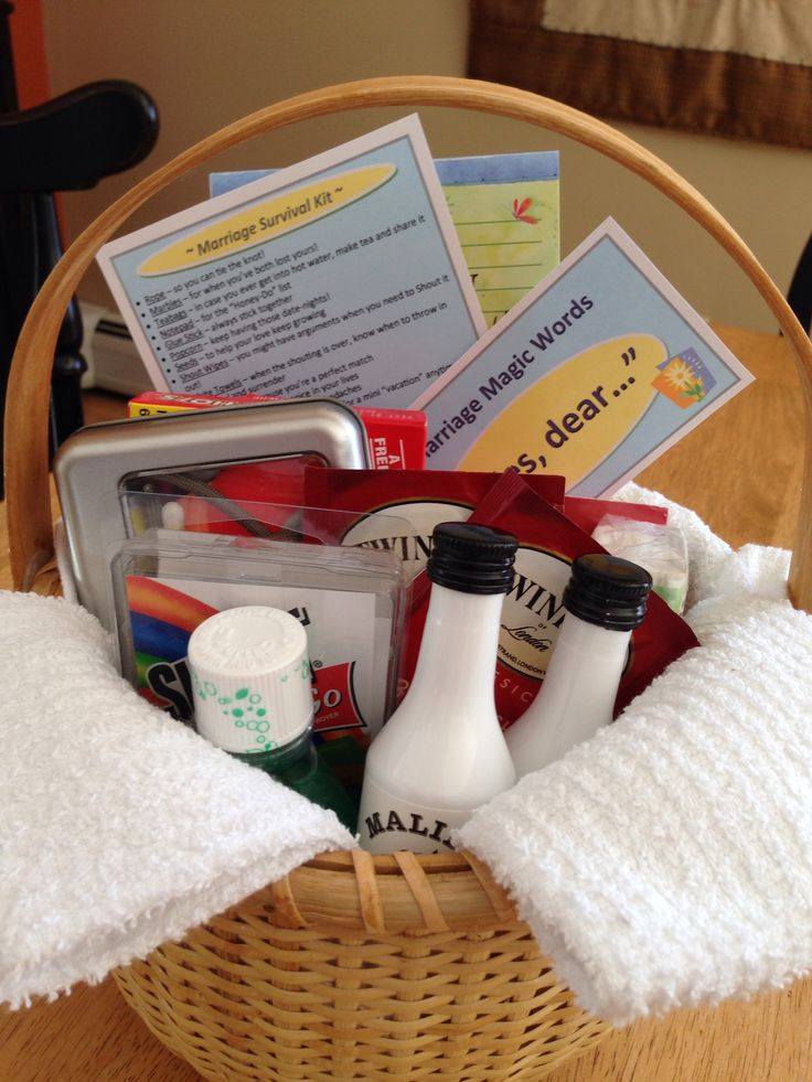 Gift Baskets For Wedding Couple: 28 Best Marriage Survival Kit Images On Pinterest
