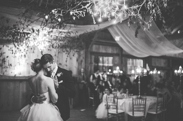 romantic first dance wedding photo by Ontario based wedding photographer Jennifer Moher Photography | junebugweddings.com