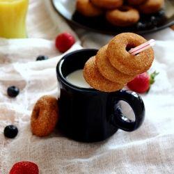 Mini Pumpkin Cake Doughnuts | sweets | Pinterest