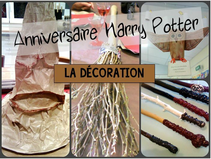 anniversaire harry potter id es de d corations harry potter party bricolages harry potter. Black Bedroom Furniture Sets. Home Design Ideas