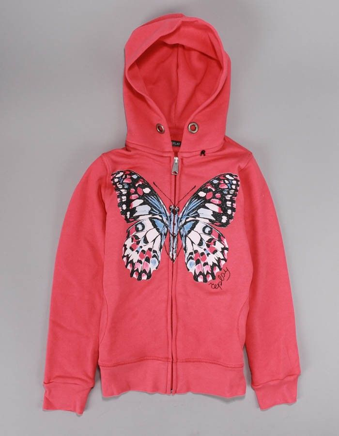 Replay Butterfly Zip Logo Pastel Pink | Accent Clothing