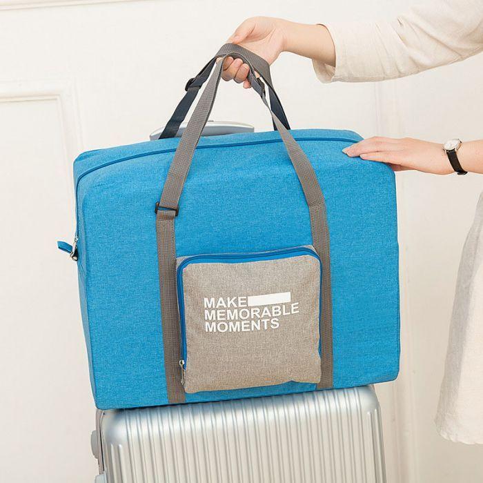 Lovomoo   14.99. Foldable Travel Duffel Bag Waterproof Luggage ... b2f52687ea703