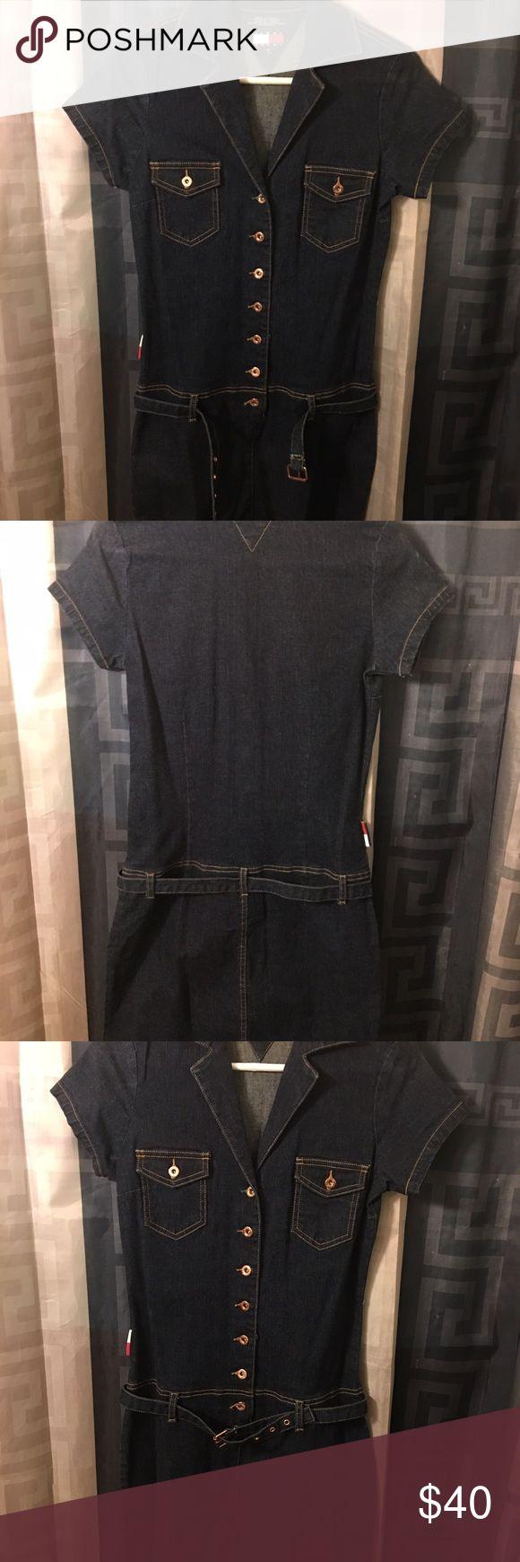 NWOT Denim Tommy Hilfiger dress with belt NWOT Denim Tommy Hilfiger dress with belt Tommy Hilfiger Dresses