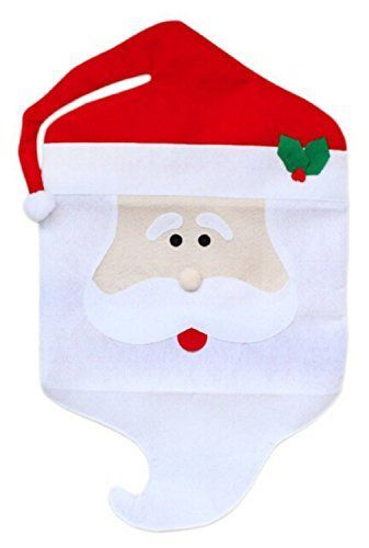 Touber Christmas Decoration 2pcslot Santa ClausSnowman Mr  Mrs Chair Covers Set for Dining Room Dinner Chairs Table Decors Christmas Holiday Festive Home Decorations 2xSanta Claus >>> You can find more details by visiting the image link.