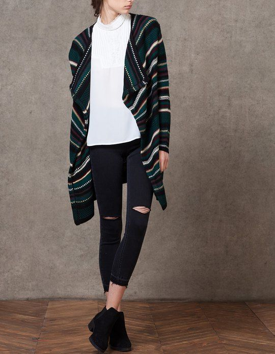 At Stradivarius you'll find 1 Jacquard cardigan for woman for just 29.95 € . Visit now to discover this and more GREEN RODEO.