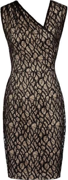 REISS ENGLAND   Alma Gathered Lace Dress - Lyst