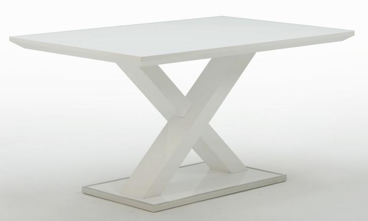 Masa Xaver din MDF alb-lucios 120/80cm