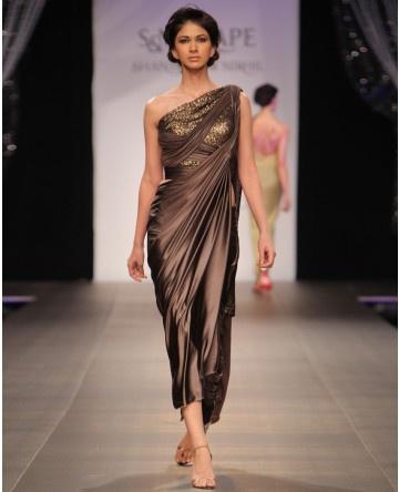 Channel an Indian Greek goddess in this Shantanu & Nikhil gown. Divine. #fashion