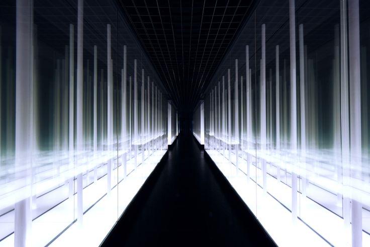 Instalación de luz: Infinity Bamboo Forest por PRISM DESIGN                                                                                                                                                                                 Más