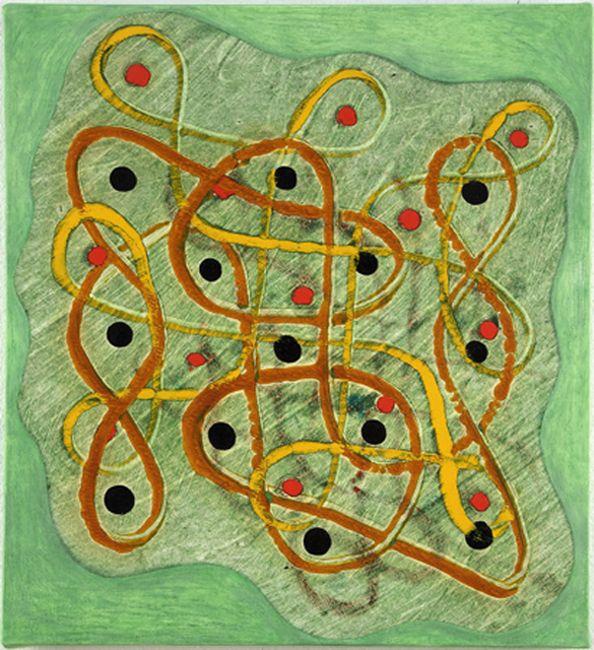 Philip Taaffe, Rangavalli Painting E, 2014, Mixed media on canvas, 40,6 x 36,8 cm