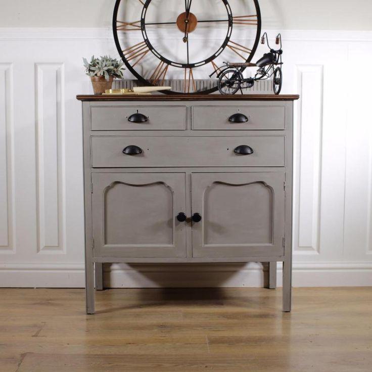 Shabby Chic Dresser kitchen French Welsh Vintage Farm sideboard cupboard mirror in Home, Furniture & DIY, Furniture, Cabinets & Cupboards | eBay!