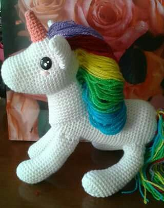 #unicorniocrochet, #amigurumidolls By Iliana kiroz