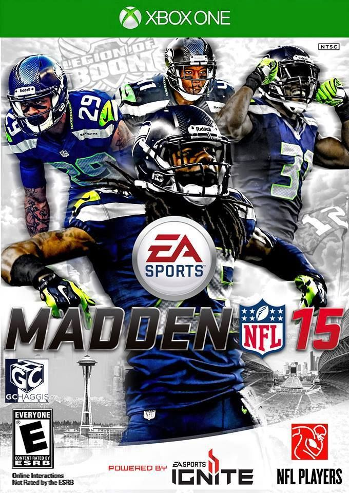 Madden 15 with LOB on the cover! Madden nfl, Seahawks