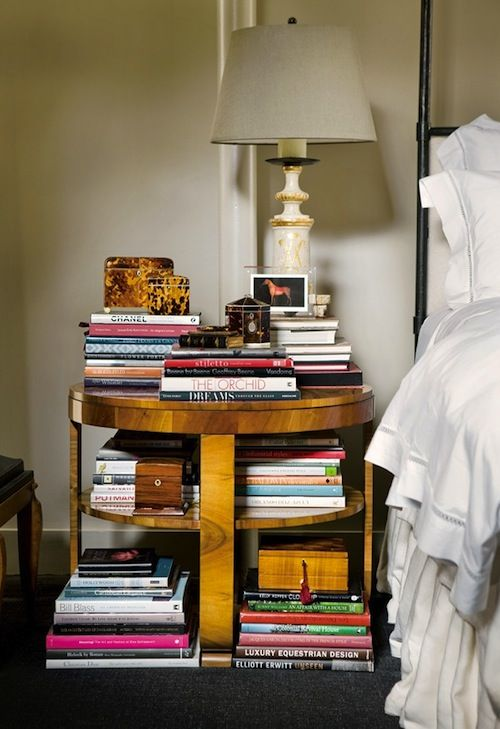 Stack your books.: Books, Interior, Idea, Dream, Nightstand, Bedside Tables, Bedroom, Bedside Book, Night Stand
