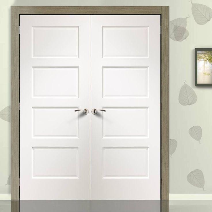 Simpli Double Door Set Severo White 4 Panel Door - Prefinished & 37 best Simpli White Double Doorsets from XL Joinery images on ... pezcame.com