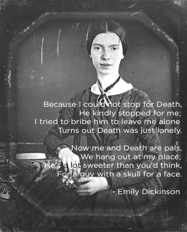 Emily dickinson because i could not stop for death essay