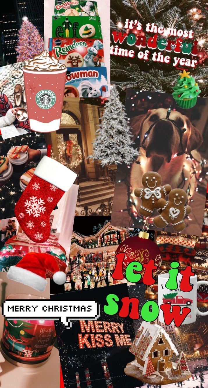 Cute Cozy Aesthetic Vsco Christmas Wallpaper Collage Xmas Collage Let It Snow Christmas Collage Christmas Wallpaper Christmas Cheer