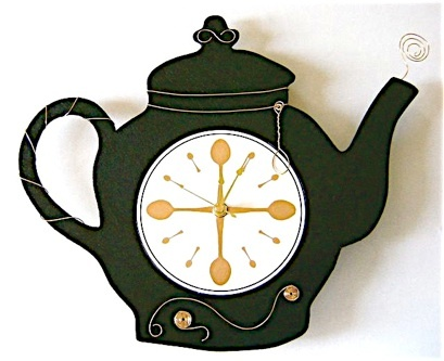 wired-teapot-clock | Painted Projects | Pinterest