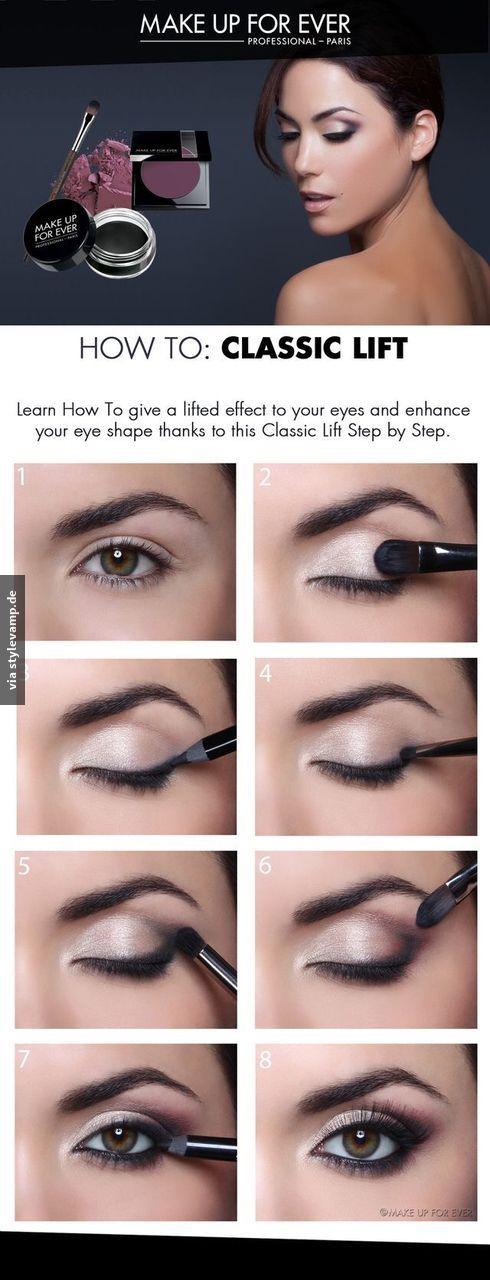 Strahlendes Augen-Make-up