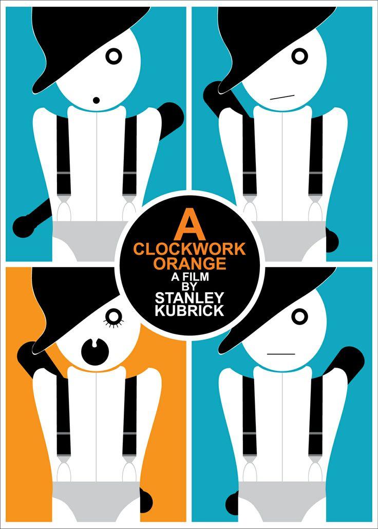 Film poster redesign: A Clockwork Orange by Ivan Durgutovski, via Behance
