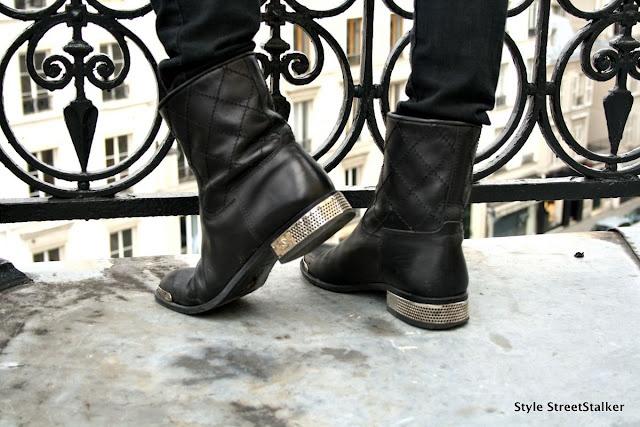 Chanel Biker Boots. Want!