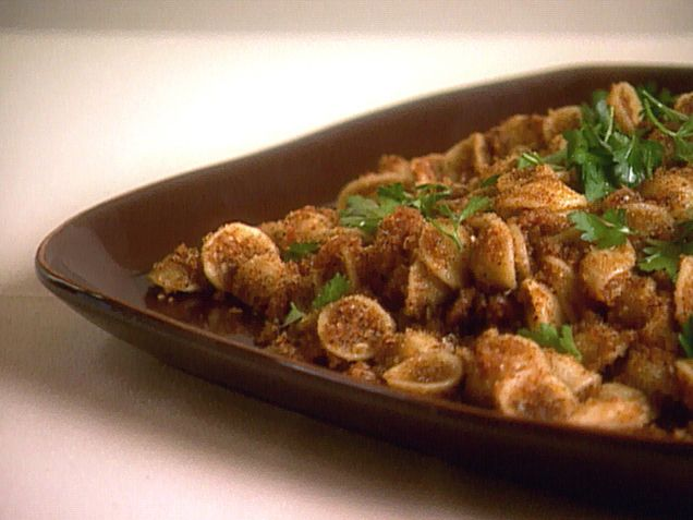 Orecchiette with Toasted Breadcrumbs recipe from Giada De Laurentiis via Food Network