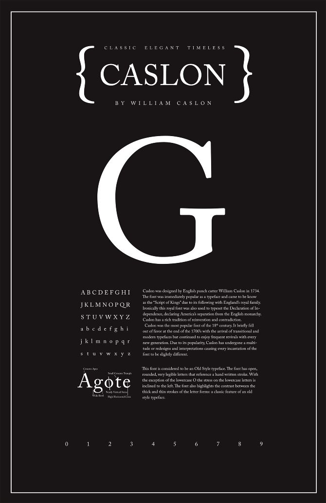 Caslon Typography Poster – Shannon Edgar