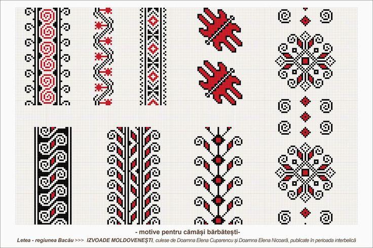 Semne Cusute: romanian traditional motifs - MOLDOVA - Bacau, Letea