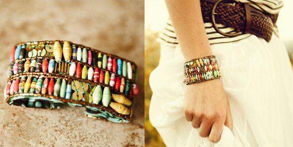 {dyptych} bracelet and model - a great idea!