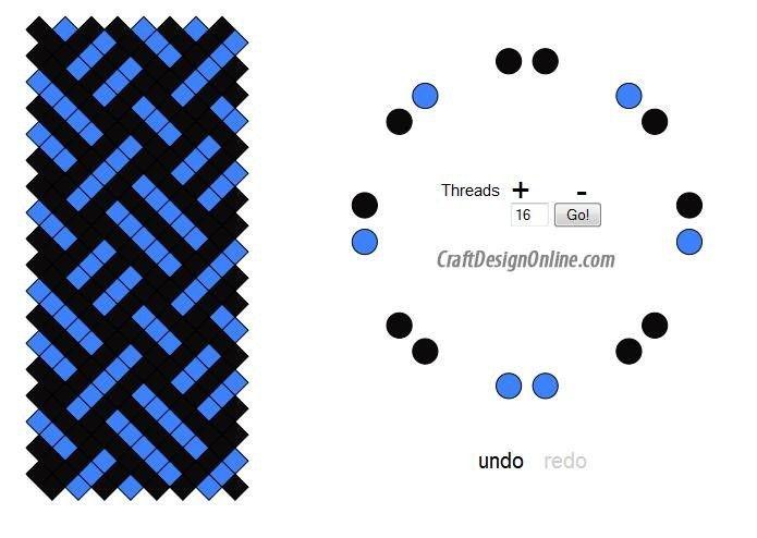16 Strands Kumihimo Patterns Kumihimo Bracelets Kumihimo