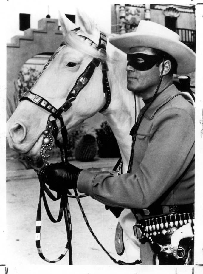 """Clayton Moore in the TV show \""""The Lone Ranger.\"""" Hi-yo, Silver, away! In anticipation of Disney's big-budget \""""The Lone Ranger,\"""" starring Johnny Depp as Tonto and Armie Hammer as the Masked Man, opening July 3, DreamWorks Classics is returning to the vintage 1950s Western TV series that starred Clayton Moore (1949-51, 1954-57) and John Hart (1952-53) in the title role and Jay Silverheels as Tonto."""