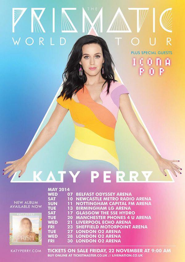 Katy Perry Announces %u2018Prismatic%u2019 Tour Dates In�2014