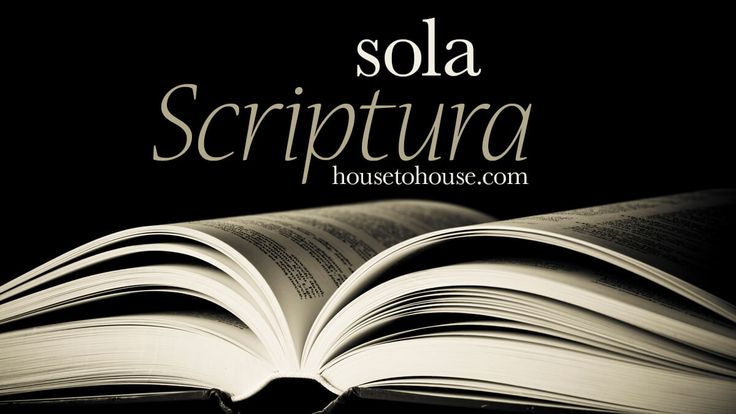 Image result for gambar sola scriptura