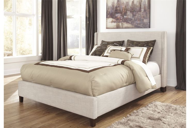 Hillary Queen Upholstered Panel Bed | Home Decor | Pinterest ...