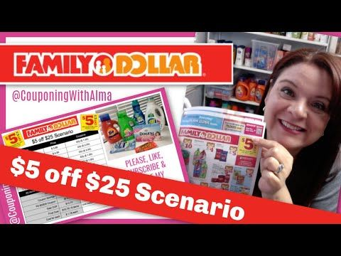 Family Dollar $5 off $25 Coupon Scenario 3/31/19 - 4/6/19