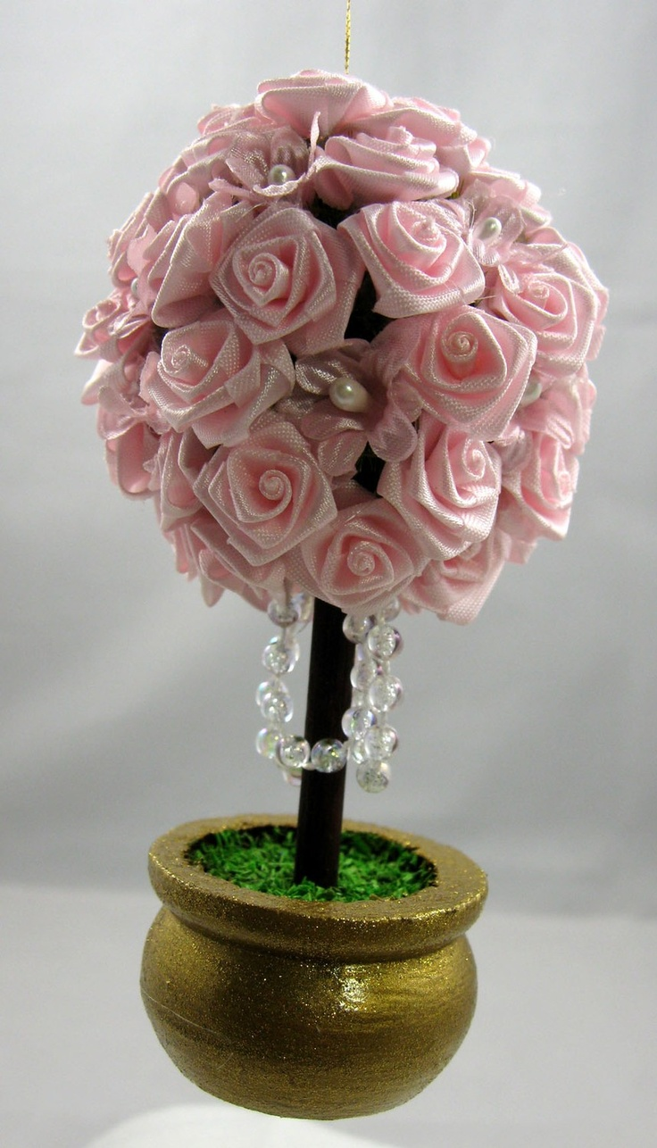 Victorian Pink Topiary Christmas Ornament 110. $8.50, via Etsy.