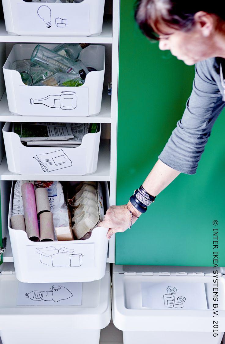 Als je recycleert, hou je niet alleen rekening met het milieu, maar je maakt het jezelf ook makkelijker! Ontdek onze tips om je recyclage te organiseren. #IKEABE #IKEAidee
