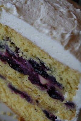 Triple-Lemon Blueberry Layer Cake.   Food   Pinterest