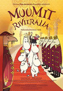 Muumit Rivieralla -elokuvan virallinen juliste