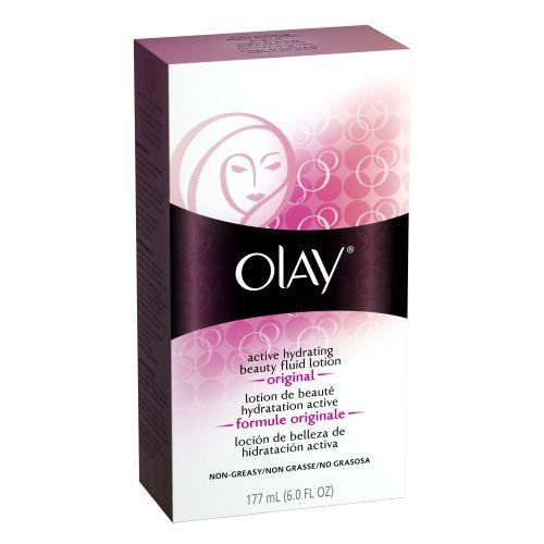 Olay Active Hydrating Beauty Fluid, Original, 6 Ounce (Pack of 2) by Olay. $17.98. You'll love Active Hydrating Beauty Fluid because it: has a Light, Non-Greasy Formula, is Dermatologist Tested, is Non-Comedogenic (won't clog pores). For the following skin types: Dry, Normal, Oily, Combination/Oily. Helps with these face concerns: Dry/Flaky Skin. Moisturizes to restore softer, smoother skin. Moisturizes: Penetrates quickly, providing your skin with an immediate surge of act...