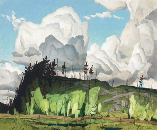 A.J. Casson - Summer Parade 30 x 36 Oil on board (1936)